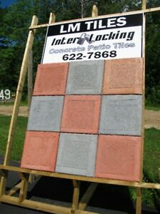 LM Interlocking concrete patio and walkway tiles