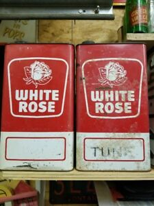 White Rose Motor Oil Tin Can