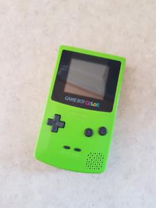 Green Game boy Color w/ Mario