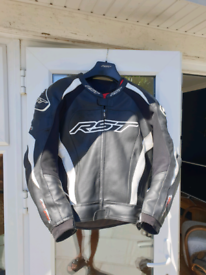RST Tractech Evo 3 leather motorcycle suit