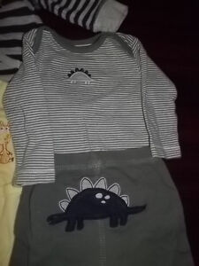 3 MONTH BABY CLOTHES, HOODIE DIAPER TOP OUTFITS 7PCS Peterborough Peterborough Area image 3