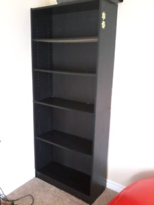 All black book shelf for sale 30$