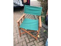 Fold out directors chair