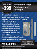Mobile Locksmith Peterborough and Kawartha Lakes 705-243-4809