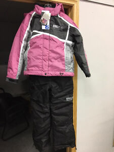 New CKX Pink/Black Child's 2 Piece Snowmobile Suit -Age 9 to 13