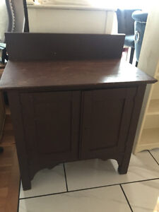 Antique Wash Stand Cabinet