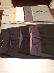 "10 Pairs of Modern Fit Men's Dress Pants (30"" - 32"" waist sizes)"
