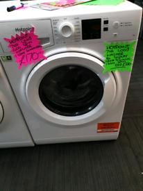 White hotpoint 7kg load washing machine