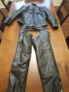 Motorcycle Riding Gear - Jacket and Chaps - Like New