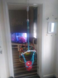 Baby's door bouncer