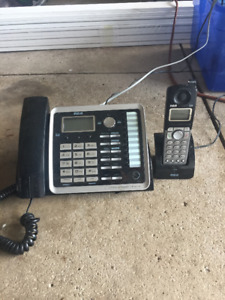 2 line phone with cordless