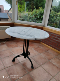 Marble topped patio table
