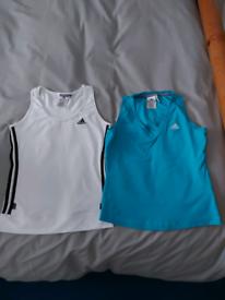 Ladies Adidas vest tops size 12 together