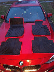 BMW 3 Series winter all season rubber floor mats