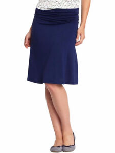 Old Navy blue jersey knit foldover skirt Small New with tags