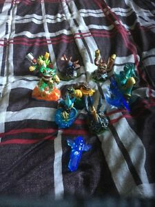 9 Skylanders and a water trap