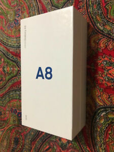 BRANDNEW SEALED SAMSUNG A8 32G WITH 2 YEAR REPLACEMENT WARRANTY