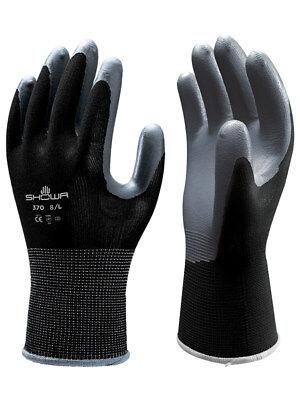 Showa Atlas Fit 370 Size Small Black Nitrile Work Gloves 1 Dozen
