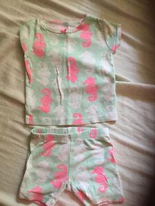 Nine months Carter's two-piece summer pyjamas