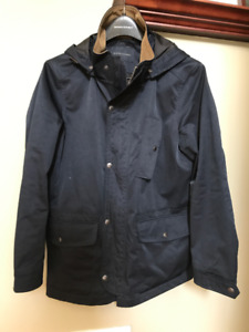 BANANA REPUBLIC MEN SMALL RAIN COAT W/ REMOVABLE HOOD