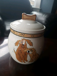 Porcelain Dog Treat Container
