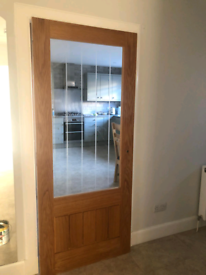 OAK GLASS PANEL DOOR