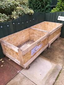 Garden wooden boxes