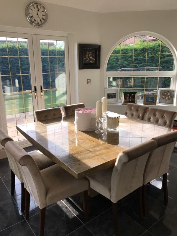Barker Stonehouse Galicia Dining Table Next Chairs