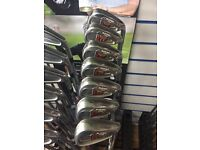 TAYLORMADE BURNER XD IRONS 4-PW. REG FLEX. GOOD CONDITION