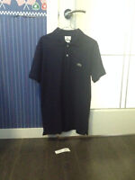 Men's Black Lacoste Polo Shirt. Size Large. BRAND NEW with Tag
