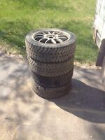 """Great deal! 17"""" rims and new winter tires!"""
