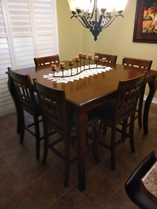 7-piece Butterfly Leaf Counter-height Dining Set