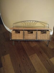 wicker storage rack