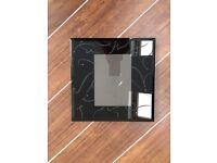Black glass phot frame