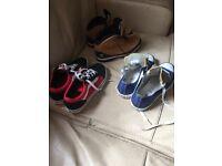 3x size 2 junior shoes/daps vans timberland converse