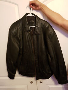 Moores Leather winter coat