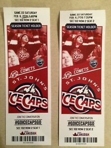 Ice caps tickets for Saturday, February 6th. GREAT SEATS