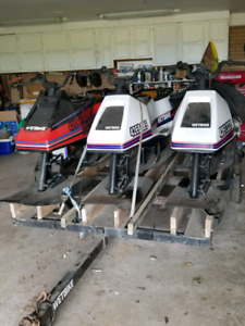 Wet bikes and trailer plus parts for sale