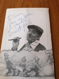 Eric Sykes autograph.