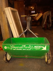 LAWN SPREADER AND 20kg LIME $25