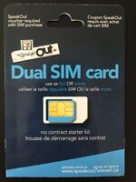 SpeakOut dual SIM card | pay-as-you-go | Canada-wide coverage