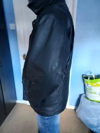 Heavy leather ¾ coat XL