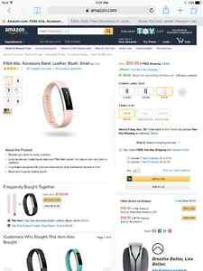 Fitbit ulta pink leather band London Ontario image 2