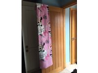 Minnie Mouse lined curtains 72 drop like new and also single bed set to match