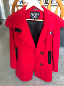 Sicily Beautiful Red Coat XS