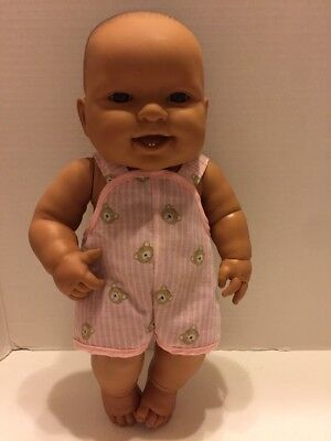"""Berenguer Doll 14"""" Open Mouth Teeth Brown Eyes"""