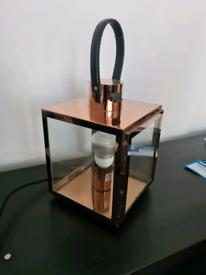 Copper coloured lantern lamp