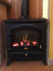 Dimplex free standing electric fireplace/woodstove