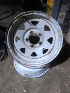 """Trailer rims 12"""" and 14"""" $20 a pair"""