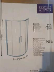 Cooke&Lewis shower try Quadrant Sliding Magnetic door